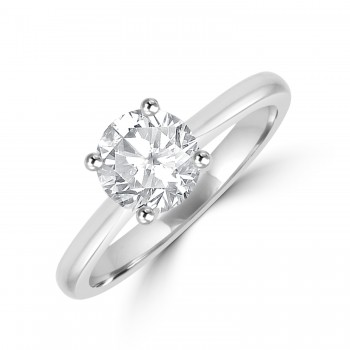 Platinum Solitaire FSi1 Diamond Ring