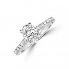 Platinum Oval DSi1 Diamond Solitaire Ring