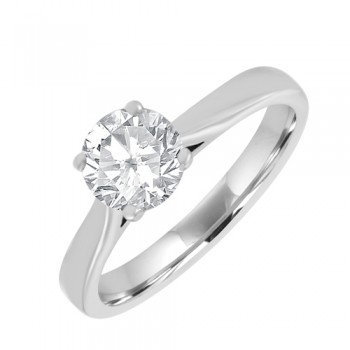 Platinum Solitaire FSi2 Diamond Ring