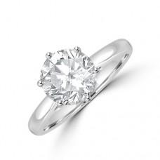 Platinum Solitaire JVS2 Diamond Ring