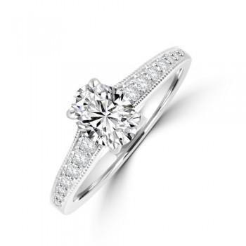 Platinum Oval Solitaire FVS1 Diamond Ring
