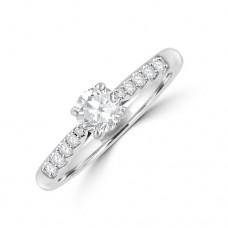 Platinum Solitaire DSi2 Diamond Ring