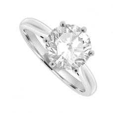 Platinum Solitaire GIA certified Diamond Ring