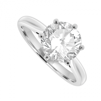 Platinum Solitaire GIA certified Diamond Ring