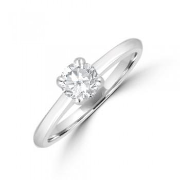 Platinum 4-claw Solitaire DSi2 Diamond Ring