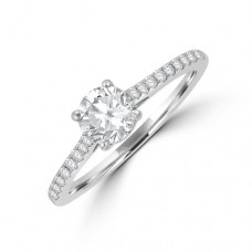 Platinum Solitaire DSi1 Diamond Ring