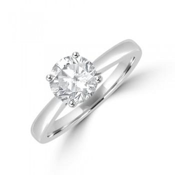 Platinum Solitaire FSi1 Diamond Ring