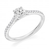 Platinum Solitaire DVS2 Diamond Castle set Ring