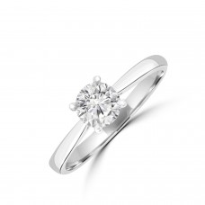 Platinum Diamond Solitare Ring .62ct DSI1