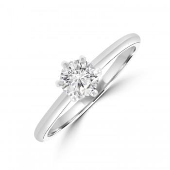 Platinum Diamond 6-Claw Diamond Solitare .45ct DSI2