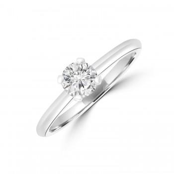 Platinum .50ct Solitaire DSi1 Diamond Ring