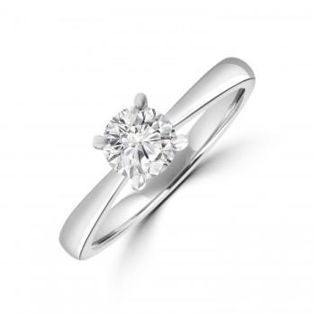 Platinum .61ct Solitaire ESi2 Diamond Ring