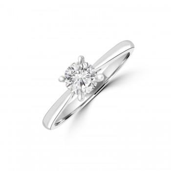 Platinum .50ct Solitaire ESi2 Diamond Ring