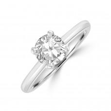 Platinum 1.00ct Solitaire ESi2 Diamond Ring
