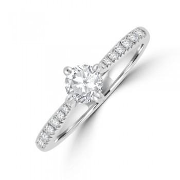 Platinum Solitaire DSI1 Diamond Ring