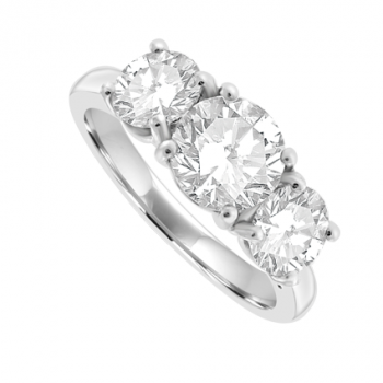 Platinum 3-Stone 2.26ct Diamond Ring