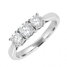 Platinum 3-stone Diamond Trilogy Ring