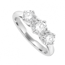Platinum 3-Stone .85ct Diamond ring in Traditional setting