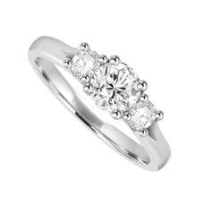 Platinum 3-stone 1.00ct Diamond Ring Engagement