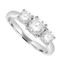 Platinum 3-stone 1.05ct Diamond Ring