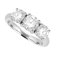 Platinum 3-Stone Diamond Ring