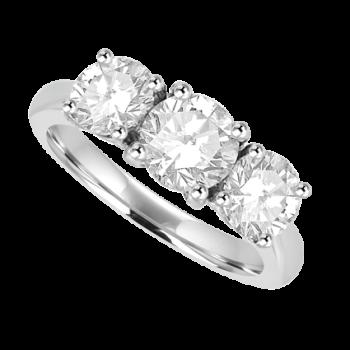 Platinum 3-Stone Diamond Ring