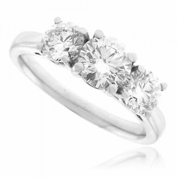 Platinum 3-Stone Diamond Ring Engagement