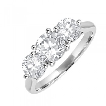 Platinum Three-stone 2.00ct Diamond Engagement Ring