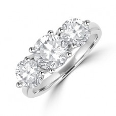 Platinum 3-stone 2.58ct Diamond Ring