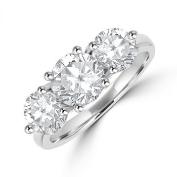 Platinum 3-stone 2.58ct Diamond Ring