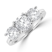 Platinum 3-stone DSi2 Diamond Ring