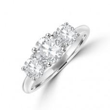 Platinum Three-stone DSi2 Diamond Brilliant cut Ring