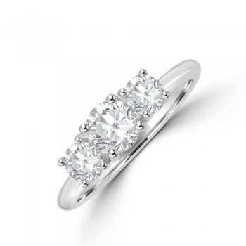 Platinum Three-stone DSi1 Diamond Brilliant cut Ring