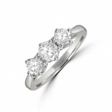 Platinum Three-stone .75ct Diamond Vintage Ring
