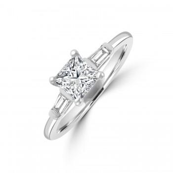 Platinum Princess GSi1 Diamond Solitaire Ring