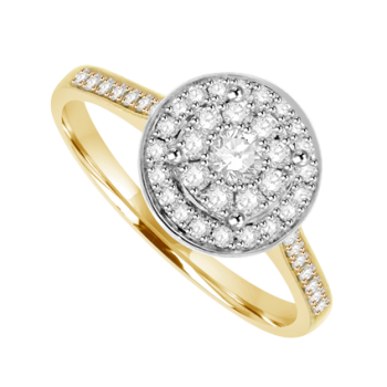 18ct Gold Diamond Mirage Ring