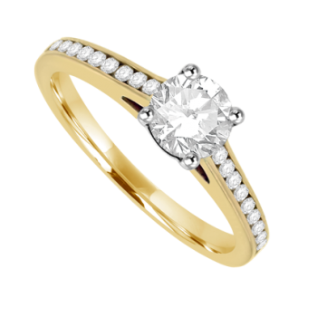 18ct Gold Solitaire .50ct FSi1 Diamond Ring