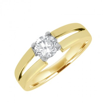 18ct Gold Diamond Solitaire with Split Shank