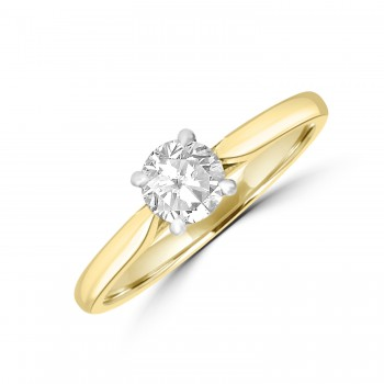18ct Gold Solitaire .50ct Diamond Ring