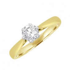 18ct Gold Solitaire EVS2 Diamond Engagement Ring