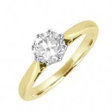 18ct Gold Solitaire Diamond 8-claw Engagement Ring