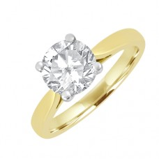 18ct Gold Solitaire GSi1 Diamond Engagement Ring