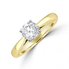 18ct Gold Solitaire .71ct Diamond Ring
