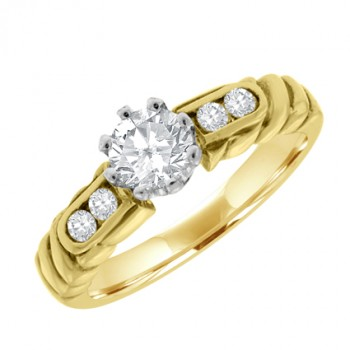 18ct Gold Diamond Solitaire Vintage style Ring