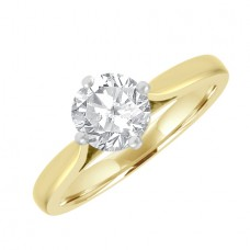 18ct Gold Solitaire GSi2 Diamond Engagement Ring