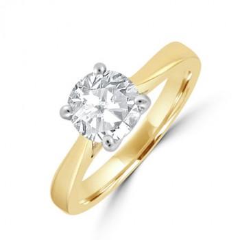 18ct Gold Solitaire HVS1 Diamond Ring