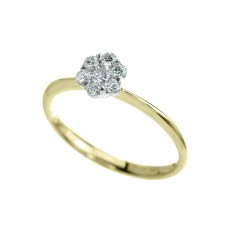 18ct Gold 7-Stone Diamond Cluster Ring