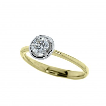 18ct Gold Solitaire Diamond Bertani Ring