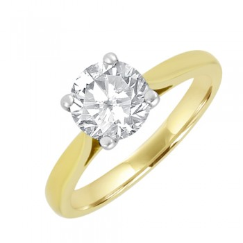18ct Gold Solitaire 1.22ct Diamond Ring