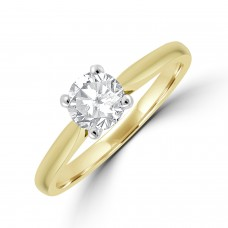 18ct Gold Solitaire EVS2 Diamond Ring